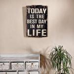Shabby Wand Bild Board aus Holz - Best Day Of My L