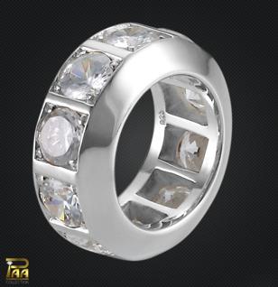 Memoire Ring Sterlingsilber mit Zirkonia - Vorschau