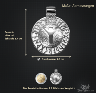 Runen-Amulett Algiz aus 925/000 Silber - Vorschau 3