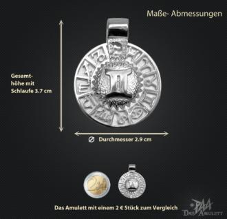 Sternzeichen Zwilling - Tierkreiszeichen Amulett 925/000 Sterlingsilber - Vorschau 3