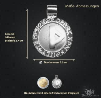 Runen Amulett Thurisaz ∅20 mm - Vorschau 3
