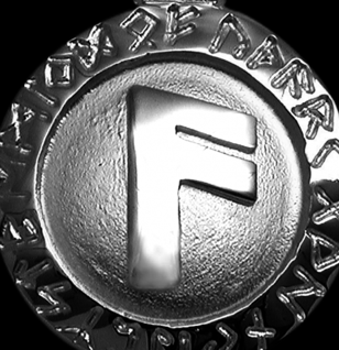 Runen-Amulett Ansuz ∅20 mm - Vorschau 2