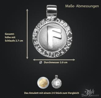 Runen-Amulett Ansuz ∅20 mm - Vorschau 3