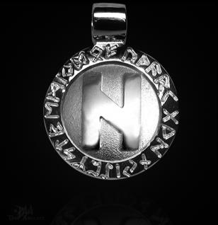 Runen-Amulett Hagalaz ∅20 mm - Vorschau 1