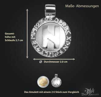 Runen-Amulett Hagalaz ∅20 mm - Vorschau 3