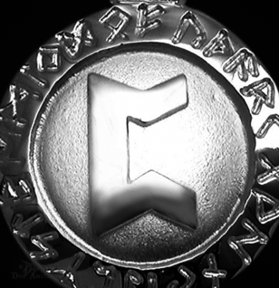 Runen-Amulett Perthro ∅20 mm - Vorschau 2