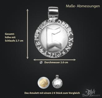 Runen-Amulett Perthro ∅20 mm - Vorschau 3
