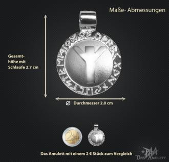 Runen-Amulett Algiz ∅20 mm - Vorschau 3