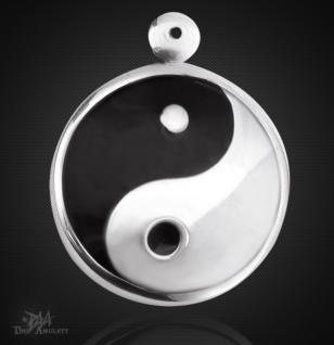 Yin Yang- Amulett klein aus 925/000 Sterling Silber