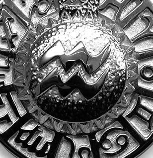 Sternzeichen Wassermann - Tierkreiszeichen Amulett aus 585/000, 14 Karat Weißgold - Vorschau 2