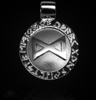 Runen-Amulett Dagaz ∅20 mm - Vorschau 1