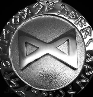 Runen-Amulett Dagaz ∅20 mm - Vorschau 2