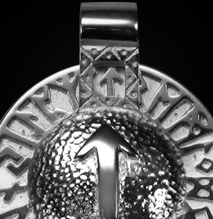 Runen-Amulett Tiwaz aus 925/000 Silber - Vorschau 2