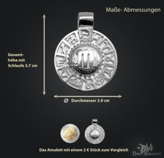 Sternzeichen Skorpion - Tierkreiszeichen Amulett aus 585/000, 14 Karat Weißgold - Vorschau 3