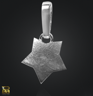 Einhänger Stern mit Clipschlaufe 925/000 - Vorschau 1