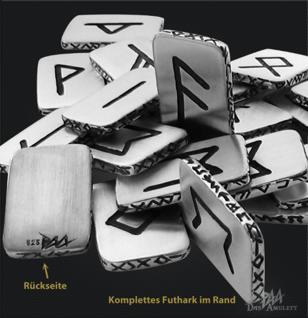 Runen Plättchen kompletter Satz 24 Stück 925/000 - Vorschau 2