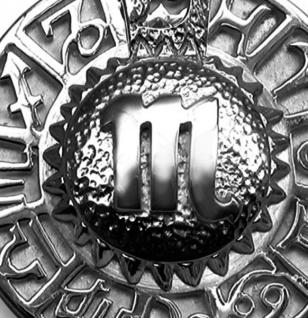 Sternzeichen Skorpion - Tierkreiszeichen Amulett aus 585/000, 14 Karat Weißgold - Vorschau 2