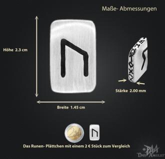 Runenplättchen/ Runenstein Uruz 925/000 Sterling Silber - Vorschau 3