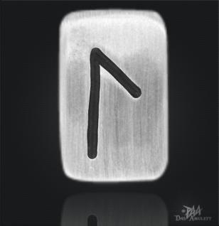 Runenplättchen/ Runenstein Laguz 925/000 Sterling Silber