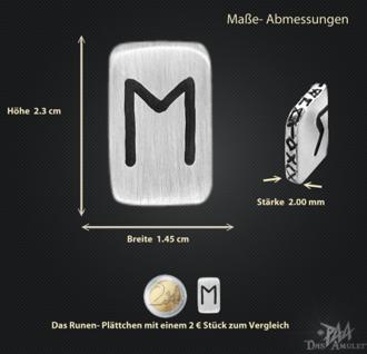 Runenplättchen/Runenstein Ehwaz 925/000 Sterling Silber - Vorschau 3