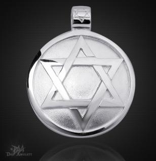 Das Siegel des Salomon aus 925/000 Sterling Silber mit Kautschukband - Vorschau 1