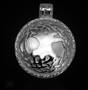 Keltischer Lebensbaum aus 925/000 Sterling Silber mit Kautschukband - Vorschau 1