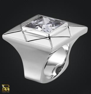Ring 925/000 Sterlingsilber mit Zirkonia Carré