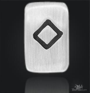 Runenplättchen/Runenstein Ingwaz 925/000 Sterling Silber - Vorschau 1