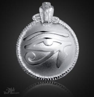 Großes Utchat Amulett aus 925/000 Sterling Silber, 41 mm.