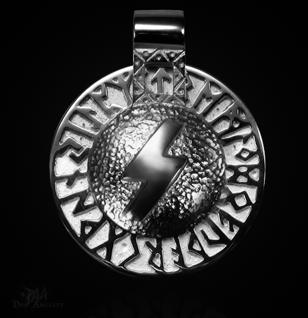 Runen-Amulett Sowilo aus 925/000 Silber - Vorschau 1
