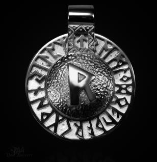 Runen-Amulett Raido aus 950/000 Platin - Vorschau 1