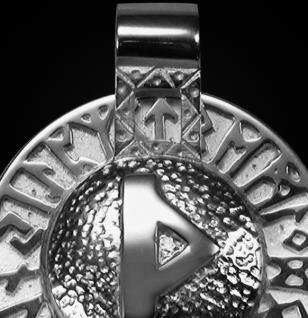 Runen-Amulett Thurisaz aus 950/000 Platin - Vorschau 2