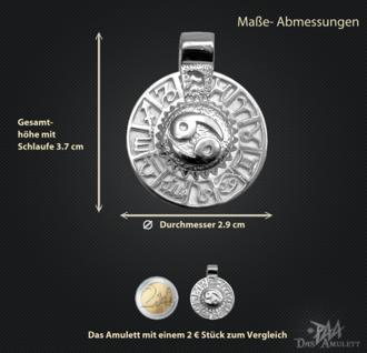 Sternzeichen Krebs - Tierkreiszeichen Amulett 950/000 Platin - Vorschau 3