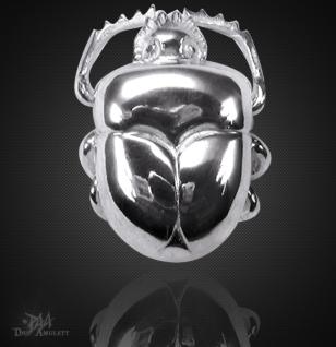 Skarabäus- Amulett klein aus 925/000 Sterling Silber