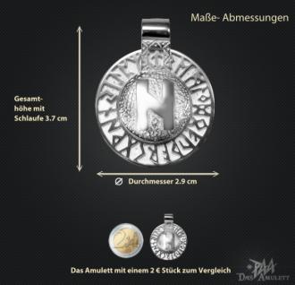 Runen-Amulett Hagalaz aus 950/ Platin - Vorschau 3