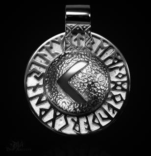 Runen-Amulett Kano (Kenaz) aus 950/000Platin - Vorschau 1