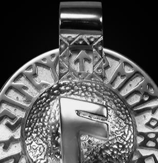 Runen-Amulett Ansuz aus 950/000 Platin - Vorschau 2
