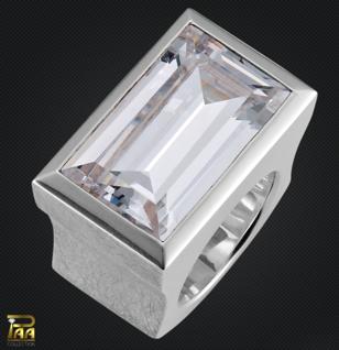 Ring Silber mit Zirkonia Baguetteschliff