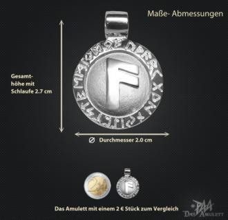 Runen-Amulett Ansuz ∅ 20 mm - Vorschau 3
