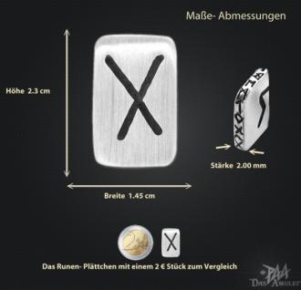 Runenplättchen/Runenstein Gebo 925/000 Sterling Silber - Vorschau 3