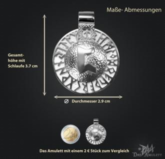 Runen-Amulett Perthro aus 950/000 Platin - Vorschau 3