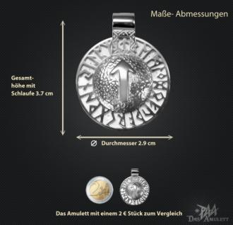 Runen-Amulett Tiwaz aus 925/000 Silber - Vorschau 3