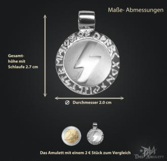 Runen-Amulett Sowilo 925/000; 20 mm - Vorschau 3