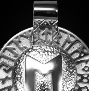 Runen-Amulett Ehwaz aus 950/000 Platin - Vorschau 2