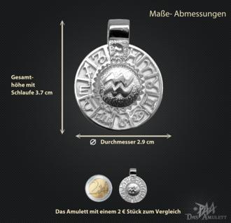 Sternzeichen Wassermann - Tierkreiszeichen Amulett aus 585/000, 14 Karat Weißgold - Vorschau 3