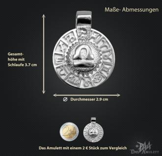 Sternzeichen Waage - Tierkreiszeichen Amulett 950/000 Platin - Vorschau 3