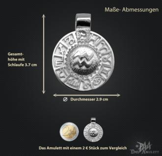 Sternzeichen Wassermann - Tierkreiszeichen Amulett 950/000 Platin - Vorschau 3