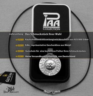 Sternzeichen Wassermann - Tierkreiszeichen Amulett 925/000 Sterlingsilber bildliches Symbol mit Kautschukband - Vorschau 4