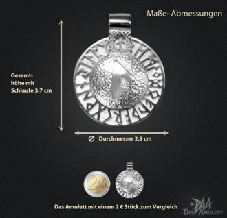 Runen-Amulett Laguz aus 925/000 Silber - Vorschau 3