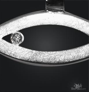 Ichthys (Jesus Fisch) 925/000 Silber mit Kautschukband - Vorschau 2
